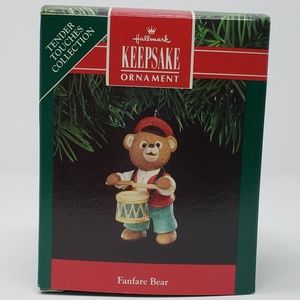 Hallmark 1991 Fanfare Bear Ornament